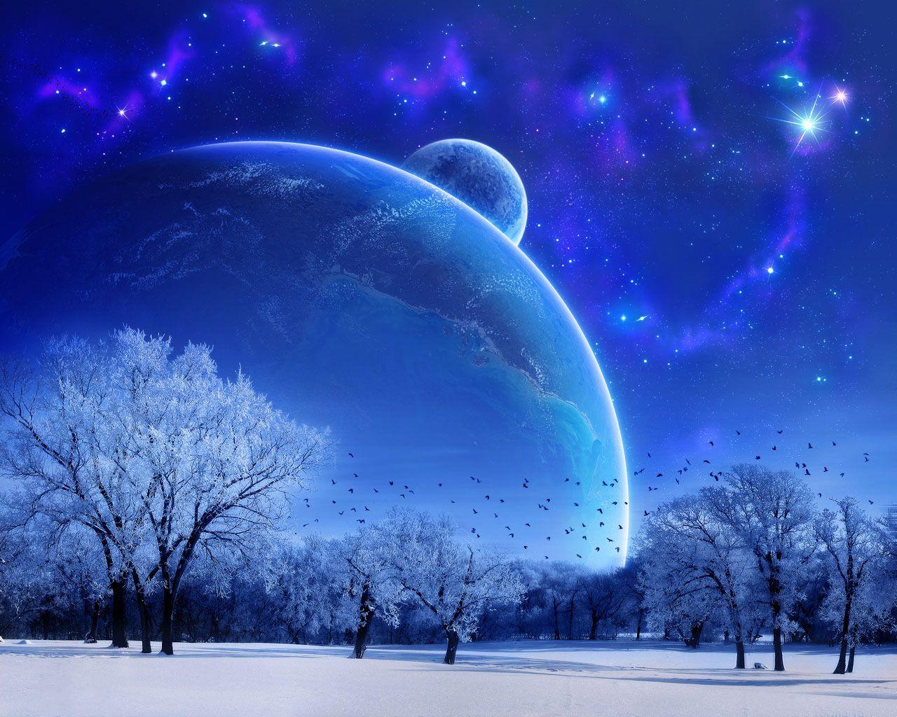 blue winter | blue winter bliss live wallpaper | wallpixy | cw