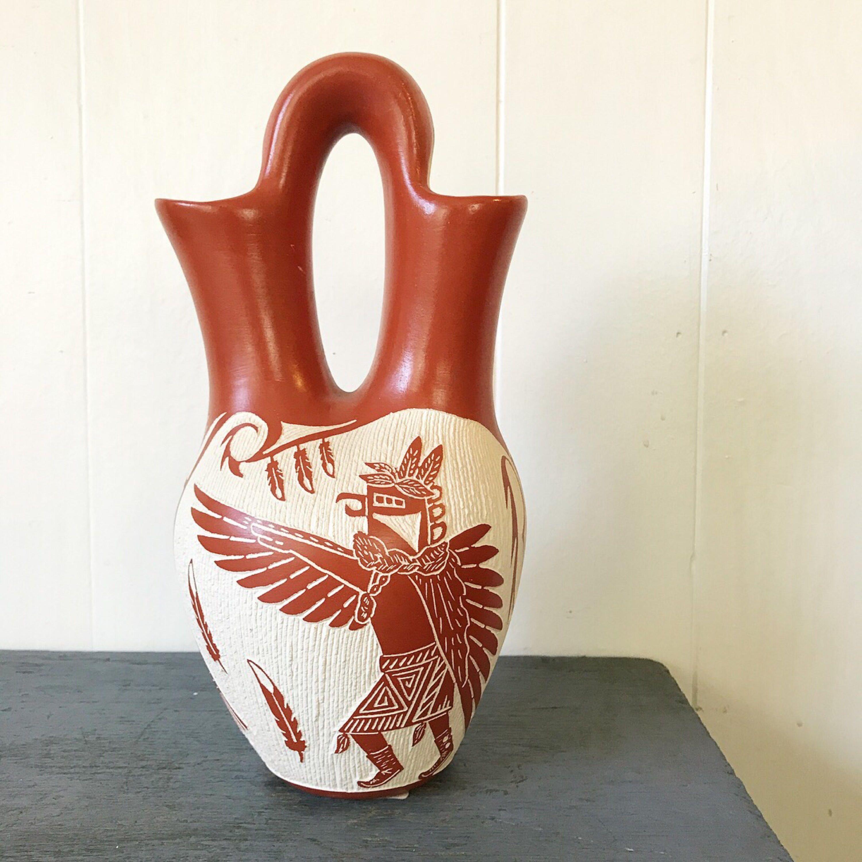 vintage Pueblo pottery Arthur Lacario Native
