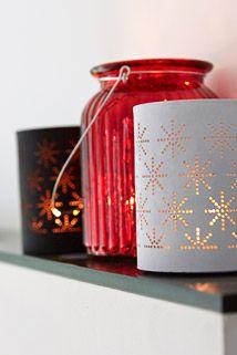 Asterisk tealight holder with stars