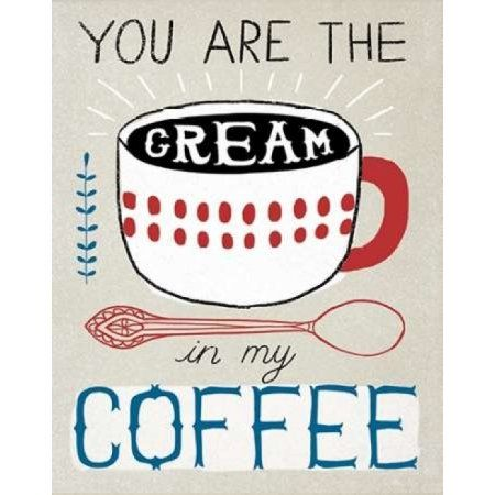 Cream in Coffee Canvas Art - Oliver Towne (22 x 28)