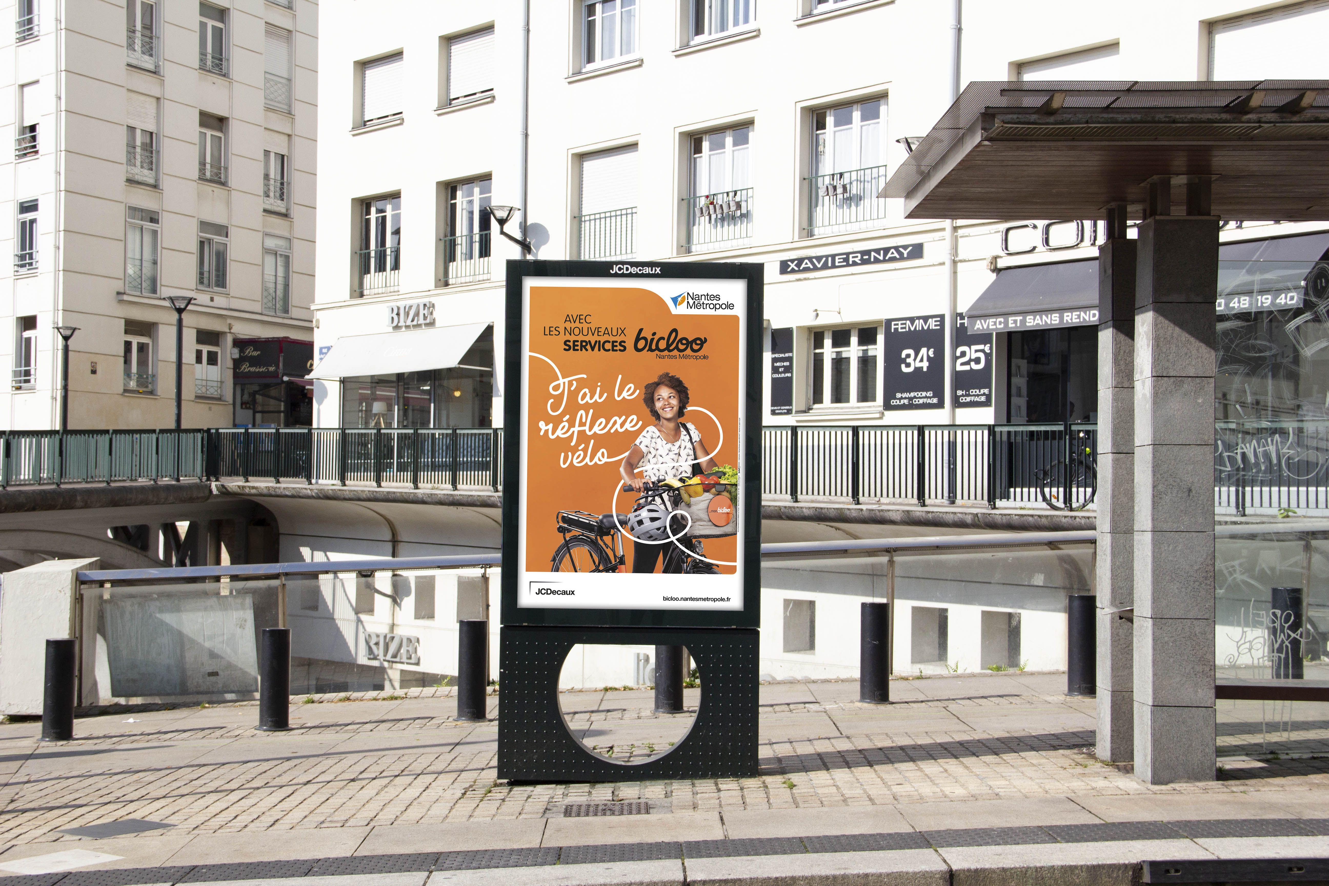 Les Services Bicloo Nantes Metropole Metropole Campagne De Communication