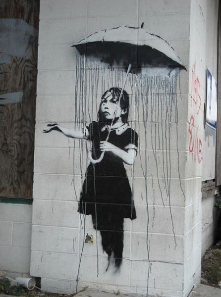 Graffiti Art by Banksy.... #graffitiart
