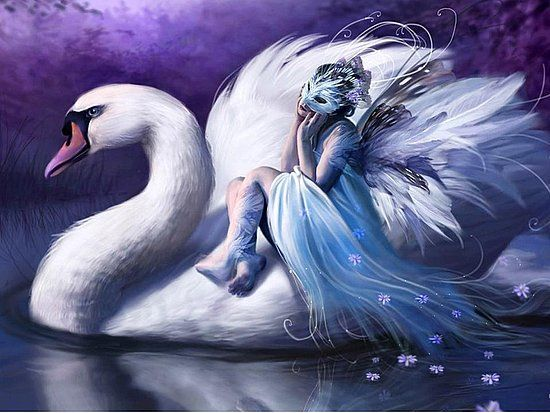 lady with swan - Google Search