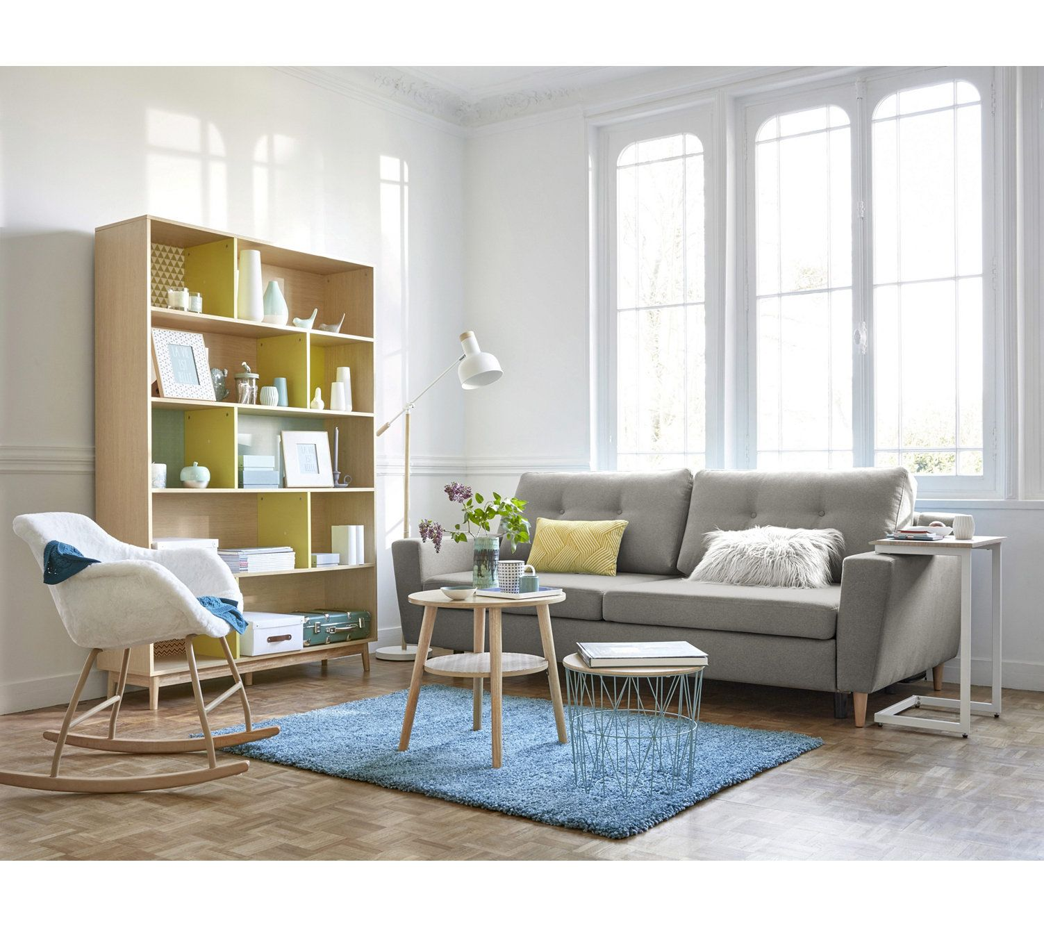 Canape Convertible 4 Places Ostende Tissu Gris Clair Decoration Maison Canape Canape Gris Clair