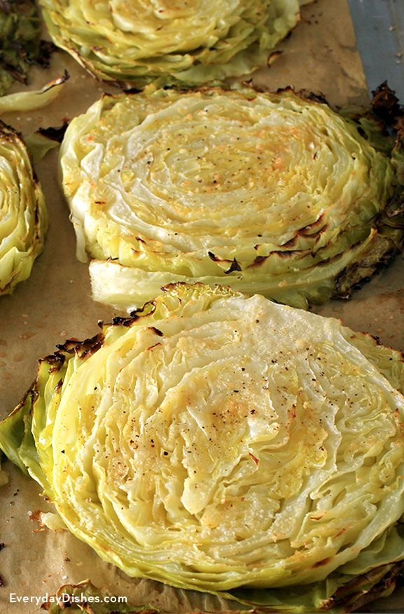 Savory Roasted Cabbage Steaks Recipe