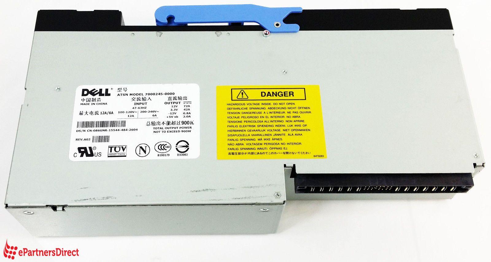 Dell 86gnr 900 Watt Redundant Power Supply For Poweredge 6650 Power Supply 2 Million Dollars Dell