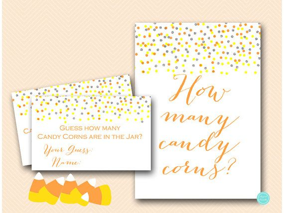 Halloween Candy Corns Guessing Game Printable, Guess how many