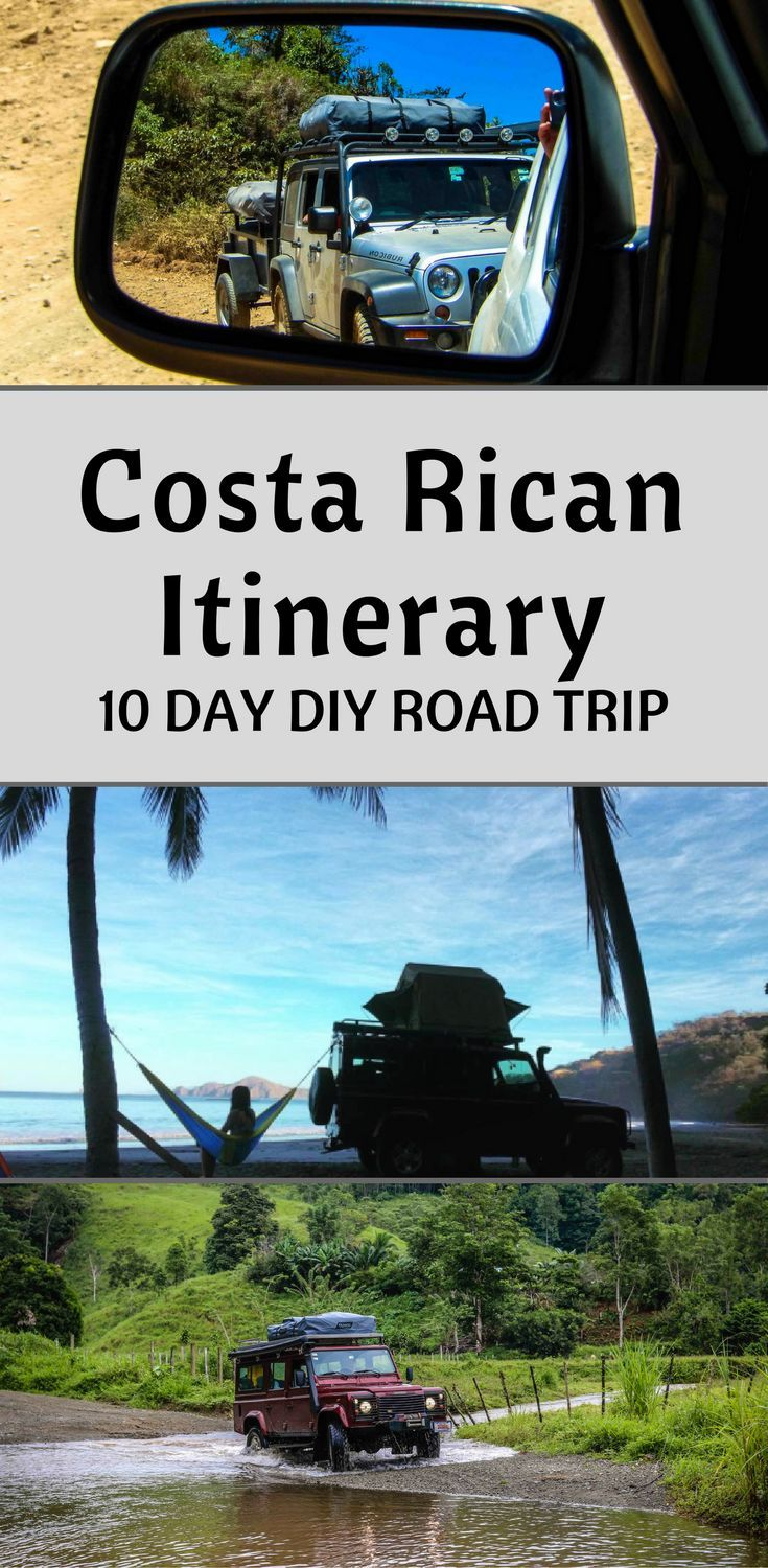 Costa rican Itinerary for 10 days. Learn how to plan your our DIY Road trip Costa Rica