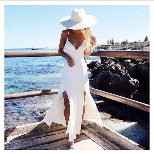 white outfit  White dress