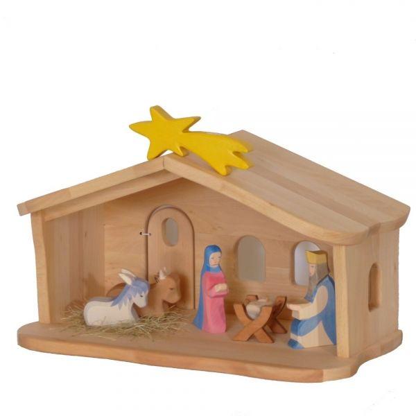 Weihnachtskrippe Für Kinder.Krippenstall Weihnachtskrippe Kinder Bauernhof Weihnachtsgeschenk