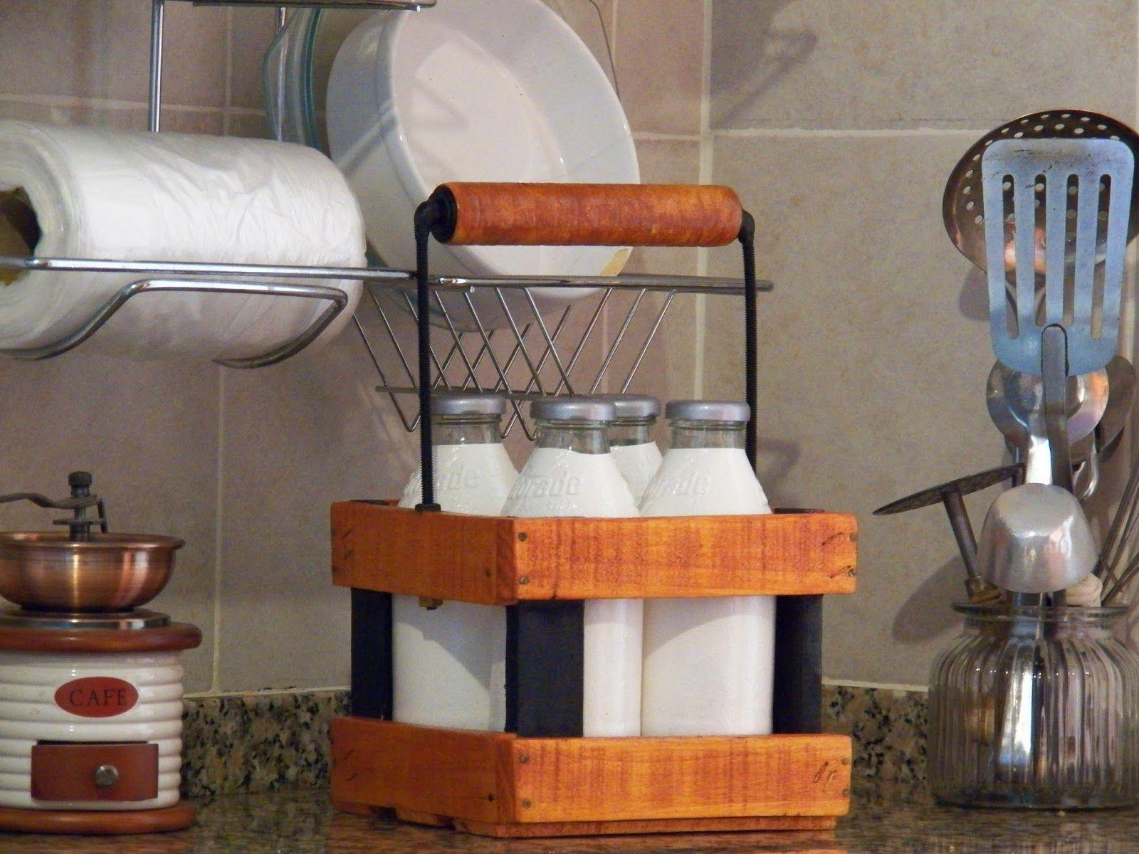 Haciendo Manualidades Reciclado De Botellas Y Caj N De Madera  ~ Manualidades De Madera Reciclada