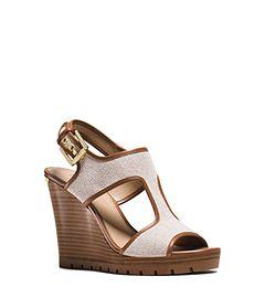 d9ce7f47d51c Michael Michael Kors Gillian T-Strap Platform Wedge Sandals