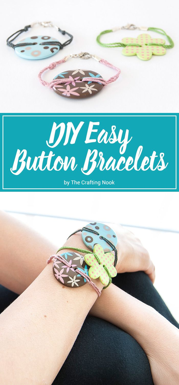 Diy easy button bracelets button bracelet bracelets and craft