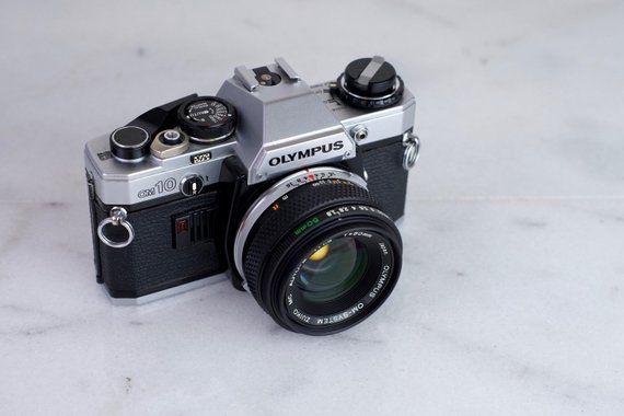 Olympus OM10 35mm Film SLR Camera with Olympus Zuiko 50mm F