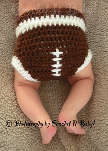42cd170c95d Ravelry  Football Hat and Diaper Cover Set pattern by Crochet It Baby