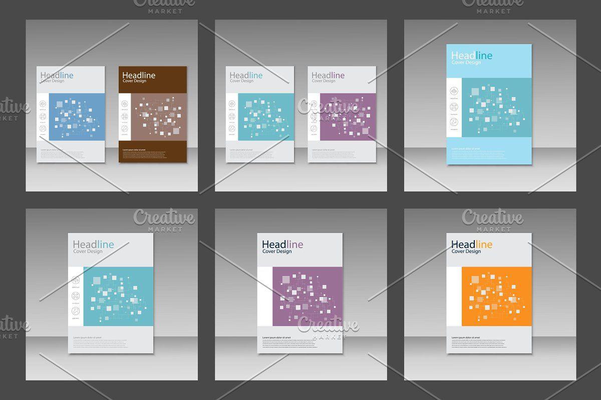 Brochure square pattern design Vol.2 , #Aff, #includes#set#files#vector #affiliate