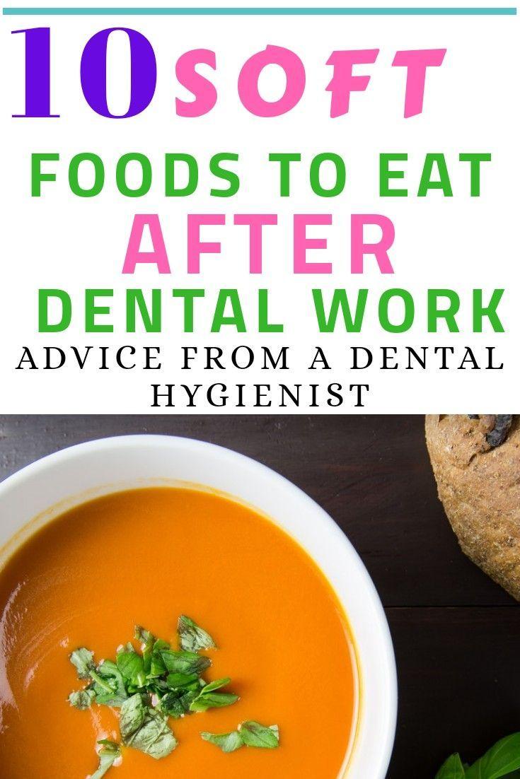 list of soft foods after dental work