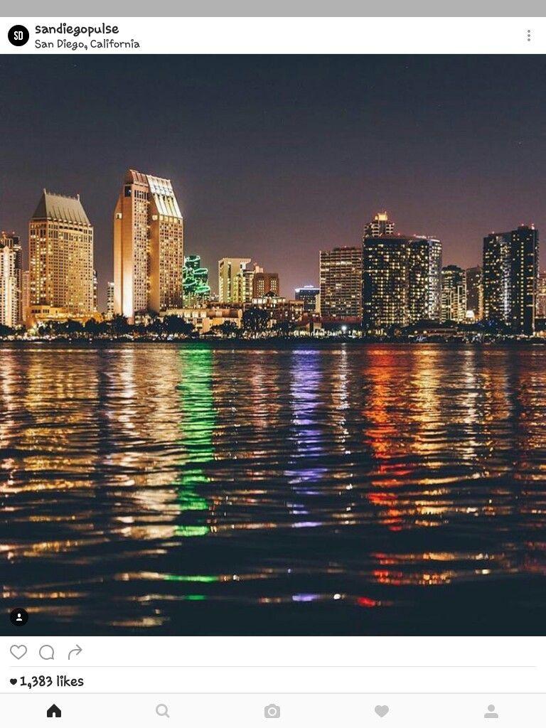 Beautiful light city San diego california, Diego, San diego