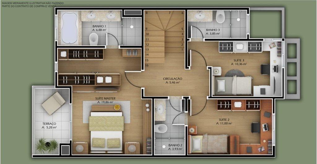 Projetos de casas modernas e pequenas gr tis plantas de for Casa moderna gratis
