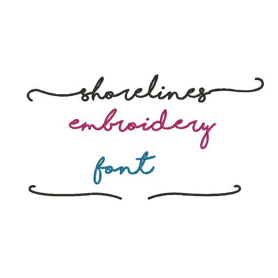 5 Sizes**Shorelines Embroidery Font Embroidery design- 8