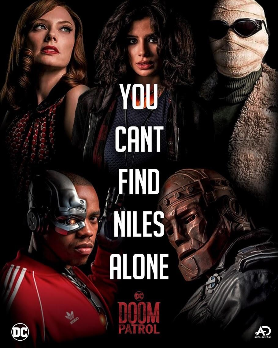 Posted by 2 years ago. You Cant Find Niles Alone Any Doom Patrol Fans Out There Art By Me Doom Patrol Doom Dc Comics Tv Series