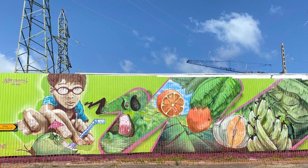 Street art en Guadeloupe : une fresque impossible à rater