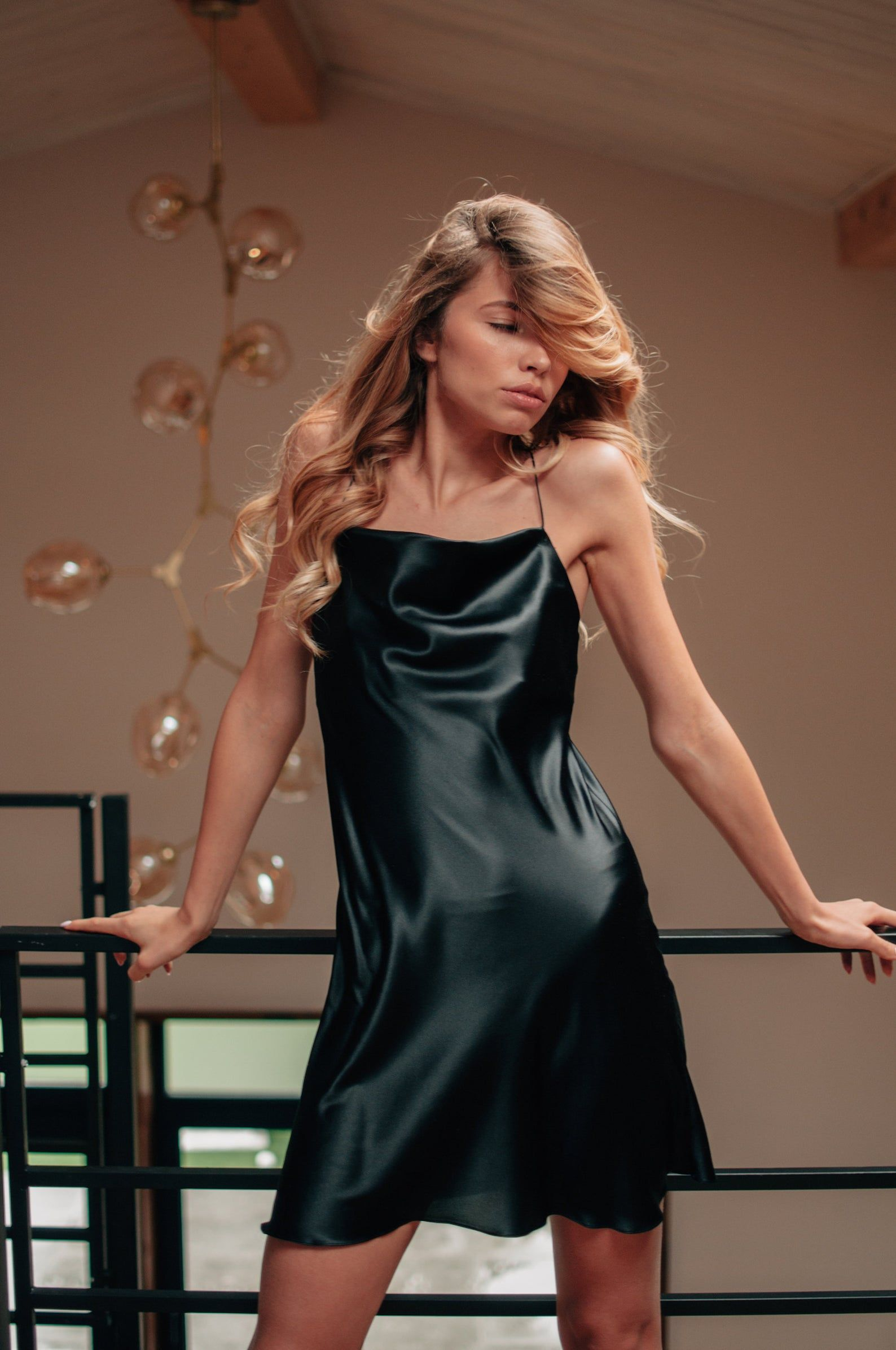 Pin On Black Satin Dress [ 2390 x 1588 Pixel ]