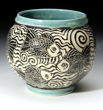 Bass River Pottery Sgraffito Ceramic Pottery Sgraffito Sgraffito Technique
