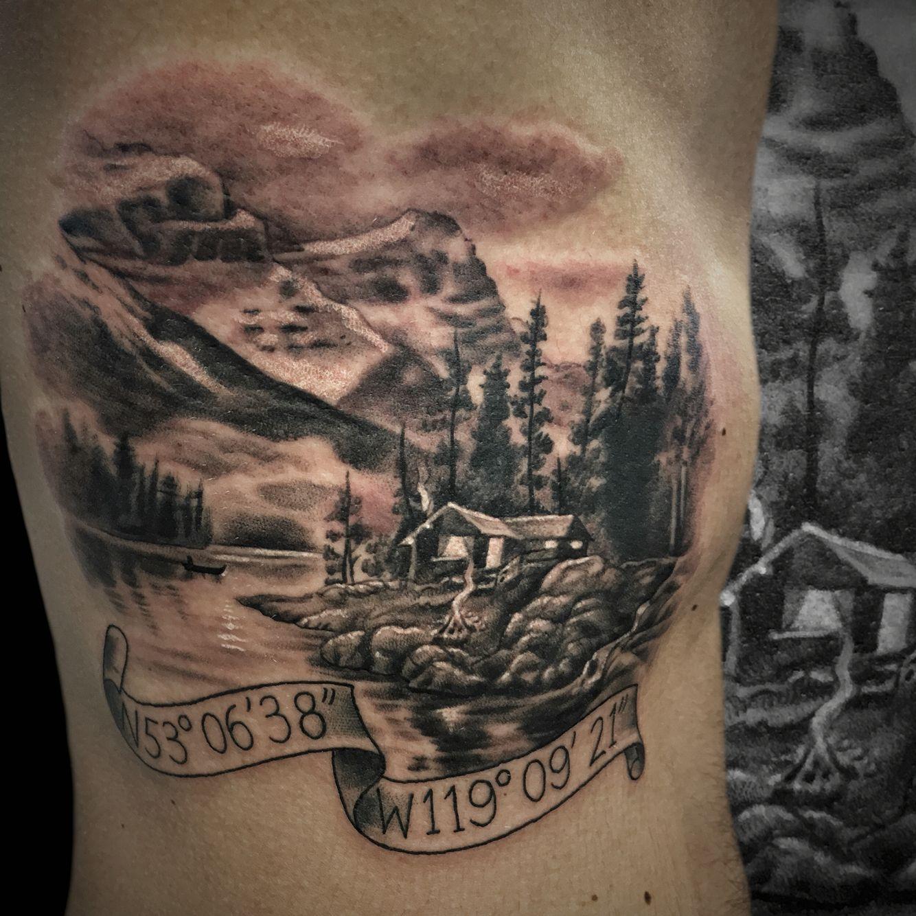 Small Canada Tattoo: Canada Canadian Logo Cabin The Rockies Mountain Tattoo