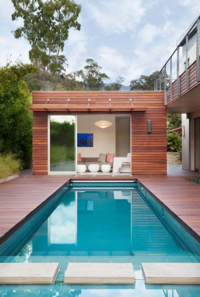 Pool Rechteckig Haus Design Nachhaltige Architektur Traumhaus