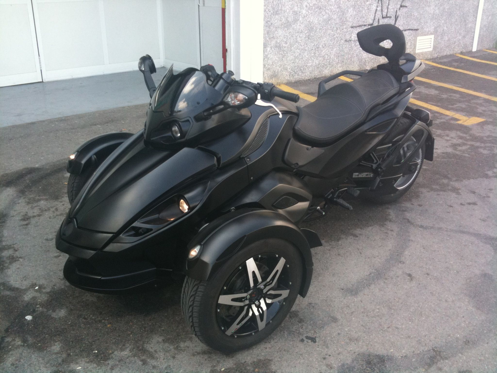 Can am spyder custom flat black paint