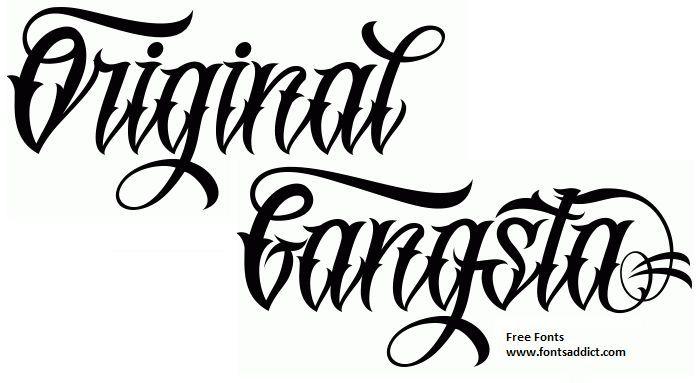 10 Original Gangsta Font Lettering Images Gangster Tattoo