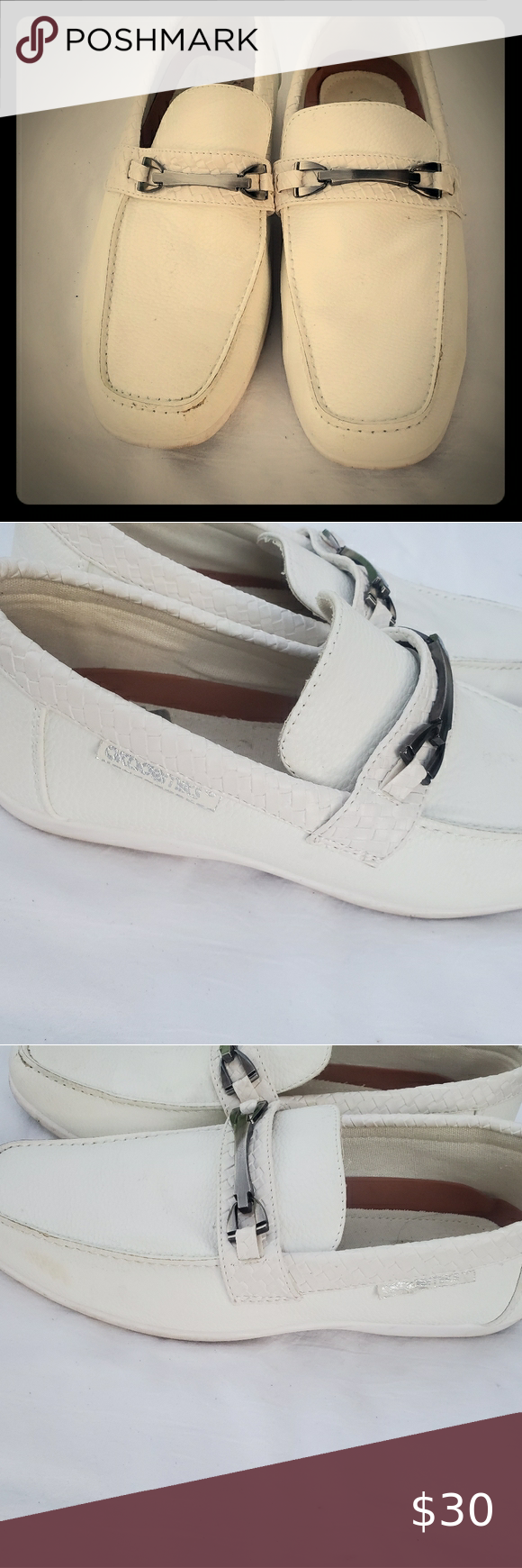 Men's White Akademiks Loafers / Slides / Dress Sho Men's White Akademiks Loafers / Slides / Dress Shoes, Size 9. Gently used, in very good condition! Akademiks Shoes Loafers & Slip-Ons