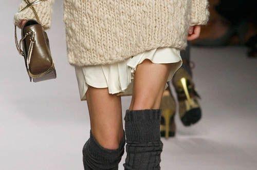 Tricô com saia delicada.