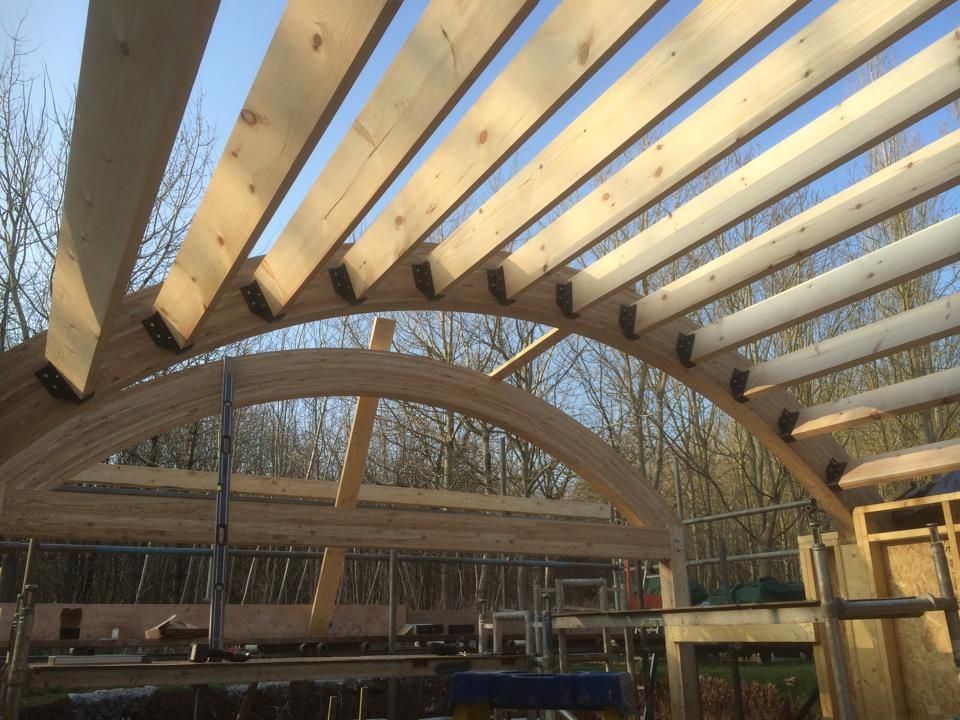 Gallery Buckland Timber In 2019 Curved Pergola Pergola With Roof Roof Trusses