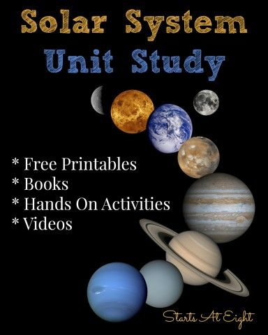 Solar System Unit Study (With images) | Solar system unit ...