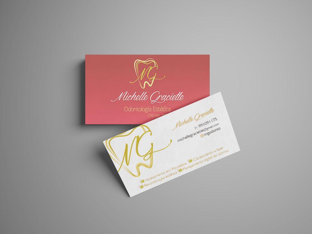 Cartão de Visita de Dra. #dentista #estetica #branding #tooth ...