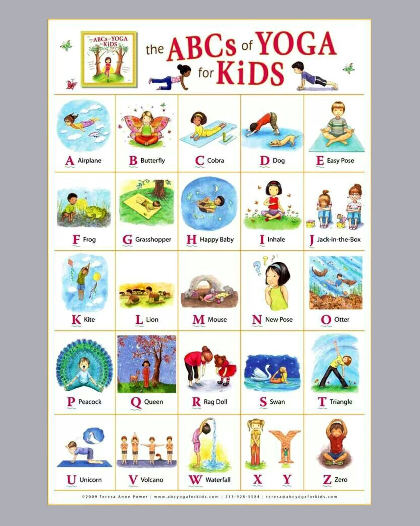 Abc yoga for kids health well being pinterest yoga abc yoga for kids altavistaventures Images