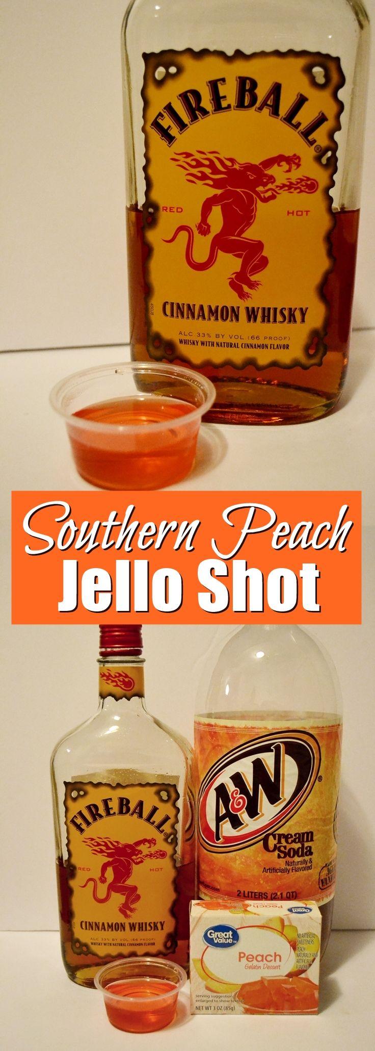 Southern Peach Jello Shot Recipe ft Fireball | Unicorn Hideout