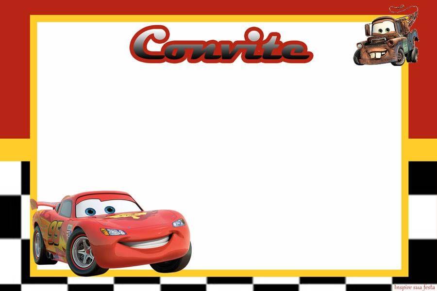 Convite Aniversario Carros 7 Disney Life Cardsjournal Cards