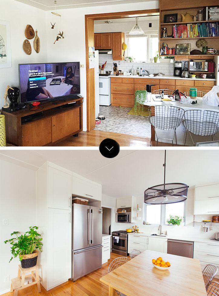 Before and after sabrinas open plan game changer renovation designsponge