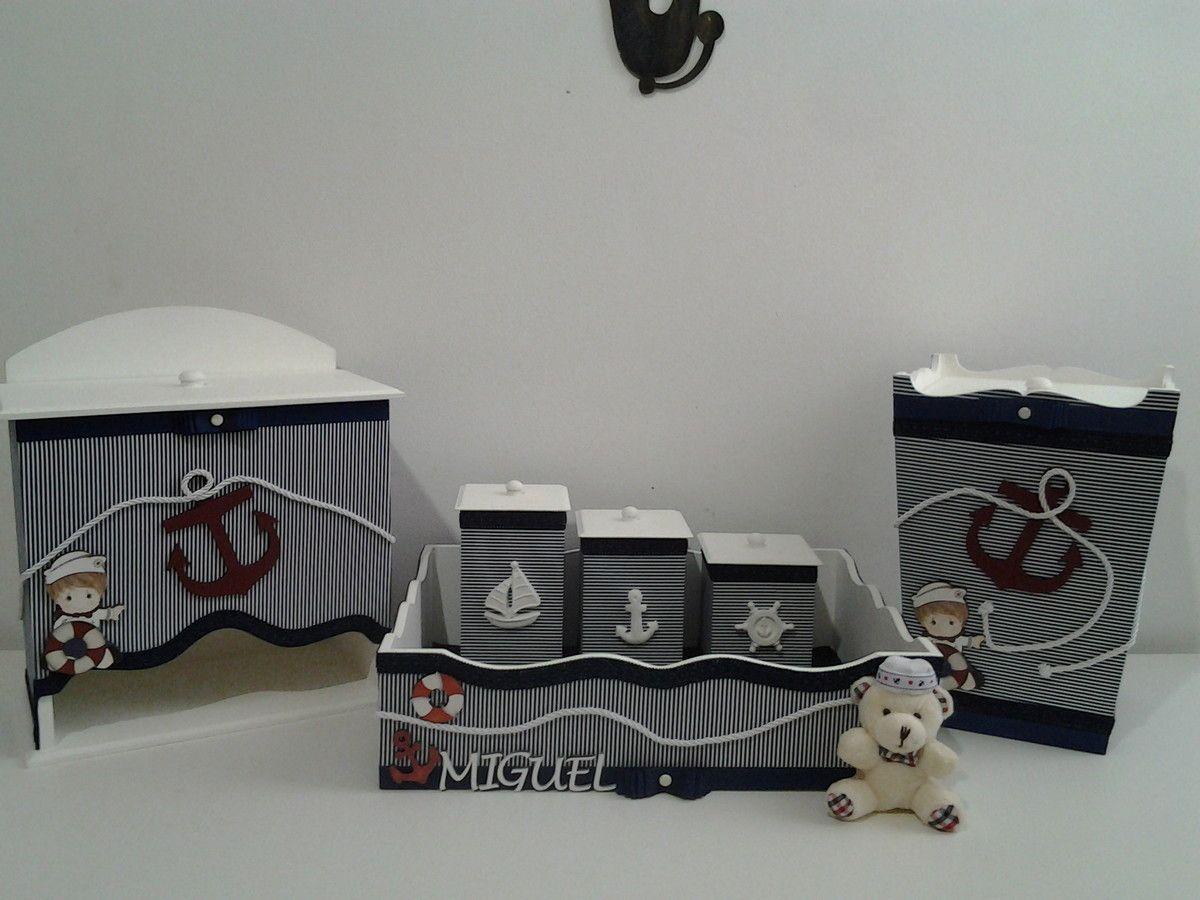 1a6fa5623 Kit para bebê contendo ,kit higiene com 03 potes(Bandeja com Vidro ...