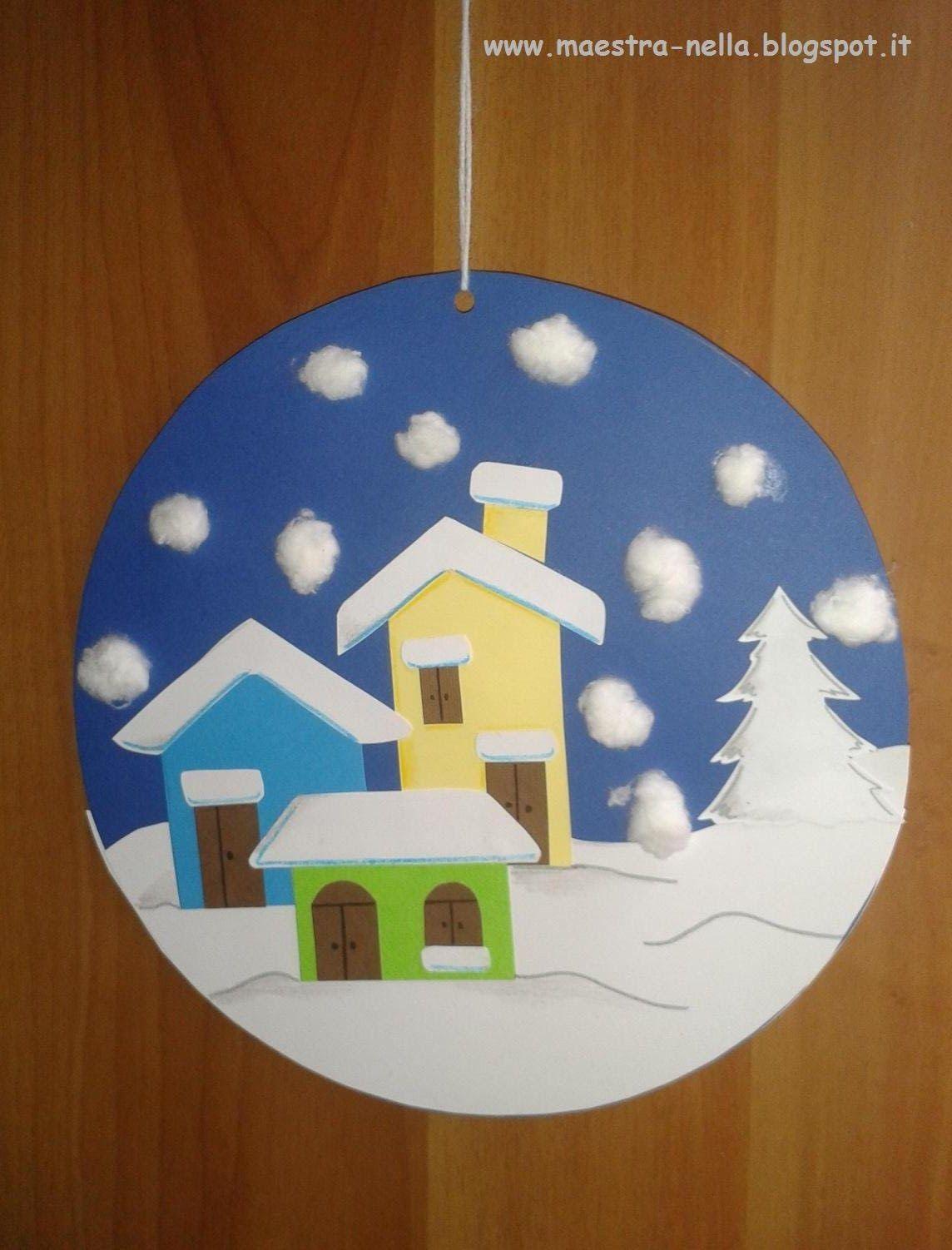Maestra nella addobbi invernali invierno manualidades for Addobbi finestre natale scuola infanzia