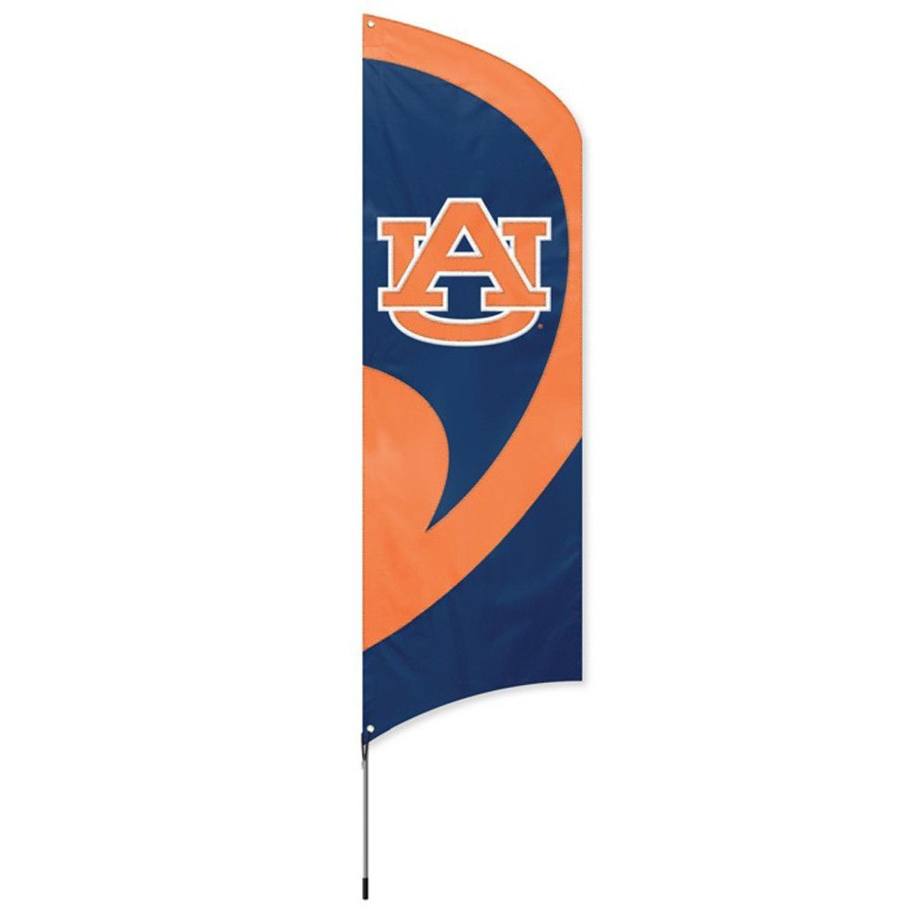 Auburn Tigers NCAA Applique & Embroidered Tall Team Flag (102x30)