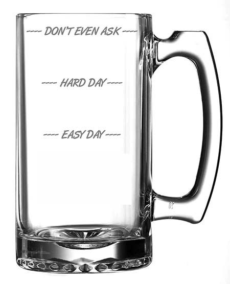 Personalised Beer-o-Meter Pint Glass Gift Idea Father's Day Birthday Men