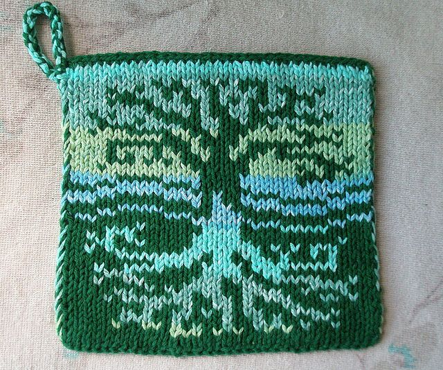 This is a pattern for a Tree of Life designed double knit ...