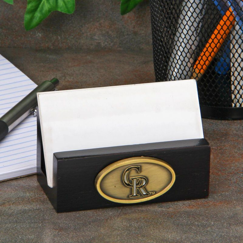 Colorado Rockies Business Card Holder - Black   Mlb teams and Products