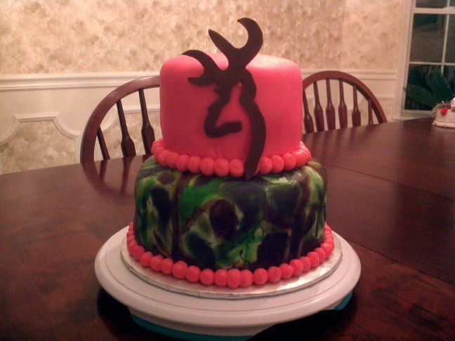 Pink Camo Browning Cake I Totally Plan To Make One Of These