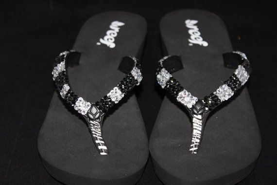 28ecac8aa07160 Size 8 wedge flip flops with bling