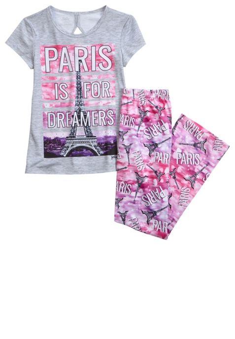 Http Www Shopjustice Com Paris Pajama Set Prd 2310013 Justice Pajamas Girls Fashion Clothes Tween Outfits